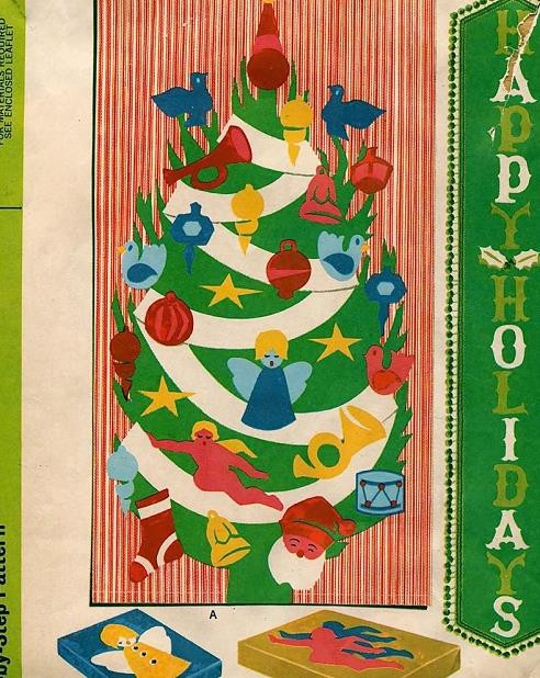1960s Christmas Holiday Crafts Decorations Pattern For Banner Tablemat Stockings Swag Retro Alphabet Mccalls 2159 Vintage Sewing Pattern Uncut