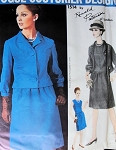 1960s Stylish Ronald Paterson Dress and Jacket Pattern Easy Day or After 5  Style Vogue Couturier Design 1514 Vintage Sewing Pattern Bust 32 UNCUT With Vogue Sew In Label
