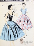 1950s Party Separates Pattern Cocktail Evening Style Blouse and Top Wide Sweeping Circle Skirt  Rockabilly Era Advance 7786 Vintage Sewing Pattern Bust 32