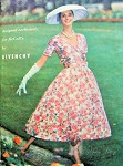 Rare Givenchy Evening Party Dress and Petticoat Pattern Exclusively Designed For McCalls 4006 Vintage Sewing Pattern Beautiful Bell Shape Skirt, Fitted Bodice V Neckline Bust 34