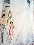1960s Ronald Paterson Gorgeous Wedding Gown Bridal Dress Pattern Vogue Couturier Design 1156 Vintage Sewing Pattern Strapless Gown,Petticoat and Short Jacket  Bust 32