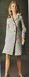 INSTANT PDF PATTERN 1960s Elegant Vintage Houndstooth Coat Knitting Crochet Pattern Fabulous Design