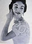 INSTANT PDF PATTERN 1950s Hamaca Shrug Sweater, Strapless Bodice, Bombshell Style, Vintage Knitting Crochet Pattern