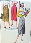 1950s Pencil slim Skirt Pattern Wiggle Style Skirt With Pockets McCalls 3410 Vintage Sewing Pattern Waist 27
