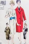 1960s Elegant Slim Dress and Coat Pattern Designer Irene Galitzine Vogue Couturier Design 1014 Vintage Sewing Pattern Bust 36 FACTORY FOLDED