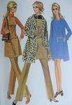 Mod 60s McCalls 2059 Vintage Sewing Pattern 60s Wardrobe Wrap Coat Trench, Jumper Tunic or Mini Dress, Pants Perfect Travel Wardrobe UNCUT Bust 36