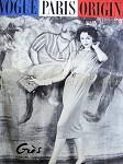 RARE 1950s Striking Gres Dress Pattern Sleeveless Barrel Dress, Bateau Neckline, Loose or Belted Back Vogue Paris Original 1404 Vintage Sewing Pattern Bust 34