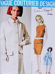 1960s Mod Federico Forquet Fab Coat and Dress Pattern Vogue Couturier Design 1667 Vintage Sewing Pattern Bust 34 FACTORY FOLDED