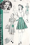 1940s Betty Grable Aprons Pattern  Hollywood 774 Vintage Sewing Pattern Full  Apron or Flirty Hostess Half Aprons WW II Era Styles Size Large