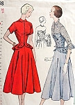 1950s Beautiful Strapless Evening Cocktail Dress and Jacket Pattern Sweetheart Flirty Peplum Bodice Flared Skirt Perfect For Lace Fabrics Simplicity 3398 Vintage Sewing Pattern Bust 31 UNCUT