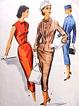 1950s Stunning  Slim Dress and Fitted Jacket Pattern Truly Stylish McCalls 4020 Vintage Sewing Pattern Bust 32