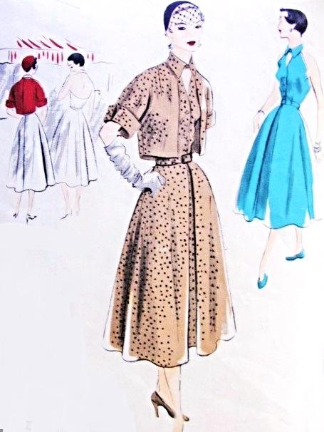 "1950 S vintage sewing pattern BOLERO Veste//B30/"" R469"