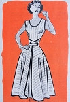 1950s Walk Away Dress Pattern Easy To Sew Anne Adams 4839 Vintage Sewing Pattern Bust 30 FACTORY FOLDED