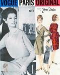 1960s UNIQUE Desses Cocktail Party Dress and Bolero Pattern VOGUE PARIS ORIGINAL 1226  Stunning Surplice Effect Party Dress Vintage Sewing Pattern Bust 34 UNCUT