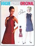 1960s Gres Cocktail Evening Dress Pattern Vogue Paris Original 1716 Perfect Little Black Dress Bust 31 Vintage Sewing Pattern