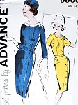 1960s Classy Slim Dress Pattern Advance 9900 Front Side Button Closing Day or After 5 Style Easy To Sew Bust 41 Vintage Sewing Pattern FACTORY FOLDED