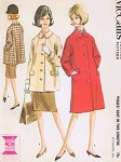 1960s Classic Single Breasted Coat or Jacket Pattern McCalls 7165 Bust 32 Vintage Sewing Pattern FACTORY FOLDED