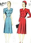 1940s Tailored Dress Pattern DuBarry 5165 Pretty WW II Dress Bust 38 Vintage Sewing Pattern FACTORY FOLDED