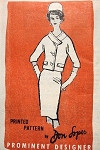 1960s Classy Don Loper Suit Pattern Prominent Designer M410 Slim Skirt Couture Suit Bust  31 Vintage Sewing Pattern FACTORY FOLDED