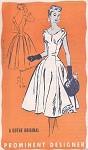 1950s Beautiful Evening Party Dress Pattern Prominent Designer M220 Gothe Original Full Skirt Figure Flattering Princess Seams Bust 32 Vintage Sewing Pattern FACTORY FOLDED