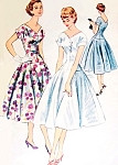 1950s Lovely Dress Pattern McCalls 3177 V Neckline Full Lovely Skirt Daytime or Party Cocktail Dress Pattern Bust 34 Vintage Sewing Pattern