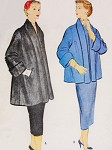 1950s Topper Jacket Pattern McCalls 9970 Clutch Coat Shawl Collar Two Lengths  Bust 32 Vintage Sewing Pattern