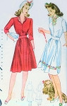 1940s Cute Dress Pattern Simplicity 4203 WW II Era Pretty 2 Neckline Styles Easy To Sew  Bust 30 Vintage Sewing Pattern