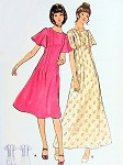 1970s Pretty Chemise Midi or Maxi Dress Pattern Butterick 6201 Flattering Pink Tucks, Flared Bias Sleeves Bust 34 Vintage Sewing Pattern FACTORY FOLDED