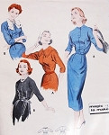 1950s Slim Dress Pattern Butterick 8321 Magic To Make 4 Different Styles Daytime or After 5 Bust 32 Vintage Sewing Pattern