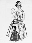 1960s Lovely Cocktail Party Dress Pattern Anne Adams 4717 Bateau Neckline Full Skirt Dress PeekABoo Open Back  Bust 35 Vintage Sewing Pattern