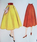 1950s Lovely Flared Skirt Pattern McCalls 3168 Interesting Pockets Detail Waist 28 Vintage Sewing Pattern FACTORY FOLDED