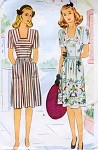 1940s Lovely Dress Pattern McCALL 5598 Low Neckline Daytime or Party Dress War Time WWII Era Bust 30 Vintage Sewing Pattern