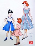 1950s  Little Girls WALK AWAY DRESS Pattern BUTTERICK 6204 VERY RARE Little Girls Quick n Easy 1 Pc Wrap Dress Companion Dress Butterick  6015  Size 4 Vintage Sewing Pattern