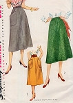 1950s Classy Skirt Pattern Simplicity 4179 Three Simple To Make Skirts Waist 26 Vintage Sewing Pattern