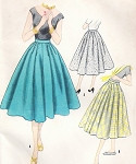 1950s Beautiful Full Skirt Pattern McCalls 3307 Flattering Outside or Inside Hip Darts Waist 26 Vintage Sewing Pattern