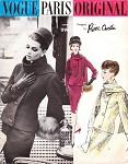 1960s The Ultimate Elegant Suit Pattern Vogue Paris Original 1194 Pierre Cardin Fitted Jacket  With Scarf and Slim Pencil Skirt Day Or Evening Vintage Sewing Pattern Bust 31
