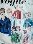 1960s Basic Jackets  Design Pattern Vogue 3007 Five Fabulous Styles Daytime or Evening Bust 31 Vintage Sewing Pattern FACTORY FOLDED