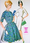 Early 60s Mad Men ErA Slim or Full Skirt Dress Pattern McCalls 6908 Jewel Neckline Flattering Design Daytime or Cocktail Party Style Bust 31 Vintage Sewing Pattern