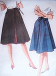 1960s Wrap Around Skirt Pattern McCalls 6665 Lined Flared Wrap n Tie  Skirt With Pockets Medium Size Vintage Sewing Pattern