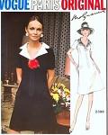 70s Molyneux Pretty Dress Pattern Vogue Paris Original 2398 V neckline A Line Lovely Notched Collar Bust 38 Vintage Sewing Pattern FACTORY FOLDED