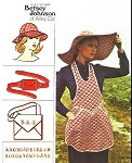 70s Vintage Betsey Johnson Alley Cat Apron Hats Bag and Belt Pattern Butterick 3550 Vintage Sewing Pattern Sz Small UNCUT