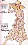 1970s Romantic 2 Pc Dress Pattern Very Easy Very VOGUE 7961 V Neckline Peplum Top Lovely Flared Skirt Daytime or Evening Sz 10 Vintage Sewing Pattern