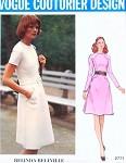 1970s Lovely Belinda Bellville Dress Pattern VOGUE COUTURIER DESIGN 2771 Jewel Neckline A Line Dress Seam Interest Bust 36 Vintage Sewing Pattern UNCUT
