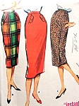 1950s Classy Pencil Skirt Pattern McCALLS 4680 One Yard One Pattern Piece Instant Skirt 3 Styles Vintage Sewing Pattern