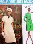 1970s Michael of London Stunning Dress Pattern VOGUE COUTURIER DESIGN 2453 Lovely Seam Interest  A Line Dress Day or After 5 Bust 34 Vintage Sewing Pattern FACTORY FOLDED