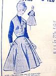 1950s Classy Jumper Dress Pattern MODES ROYALE 120 Diagonal Closing Full Flared Skirt Summer Dress or Winter Jumper Bust 34 Vintage Sewing Pattern FACTORY FOLDED
