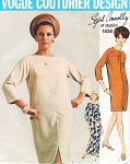 1960s Easy Elegance SYBIL CONNOLLY Dress Pattern Vogue Couturier Design 1838 Slim Dress in Regular or Evening Length Bust 32 Vintage Sewing Pattern FACTORY FOLDED