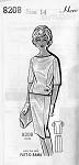 1960s Elegant 2 Pc Dress Pattern Patt-O-Rama 8208 Slim Wiggle Skirt Bateau neckline Overblouse Bust 34 Vintage Sewing Pattern FACTORY FOLDED