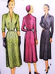 1950s Fabulous Day or Cocktail Dinner Dress Pattern McCALL 8251 Low Narrow V Neckline Classy Style Bust 30 Vintage Sewing Pattern FACTORY FOLDED