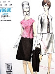 1960s Elegant 2 Pc Dress and Jacket  or Suit Pattern VOGUE SPECIAL DESIGN 6682 Lovely Scalloped Edge Overblouse Version, Cardigan Jacket, A Line Skirt Day or Evening Bust 33 Vintage Sewing Pattern FACTORY FOLDED